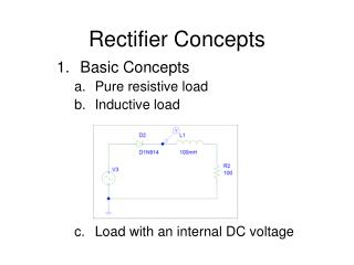 Rectifier Concepts