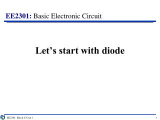 Let's start with diode