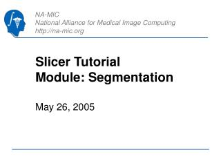 Slicer Tutorial Module: Segmentation