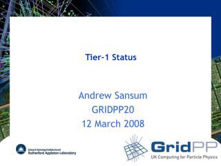 Tier-1 Status