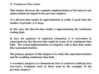 Figure 15.1:  Discrete Approximation System to the Empirical- and Pseudo-Continuous-Time Economies