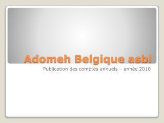 Adomeh Belgique asbl