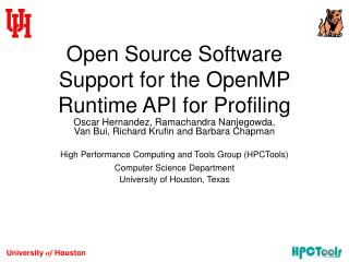 Open Source Software Support for the OpenMP Runtime API for Profiling