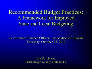 Eric R. Johnson Hillsborough County, (Tampa) FL