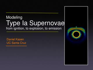 Modeling  Type Ia Supernovae from ignition, to explosion, to emission