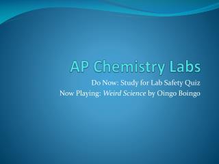 AP Chemistry Labs