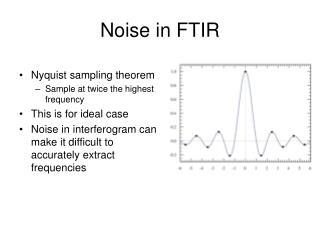 Noise in FTIR