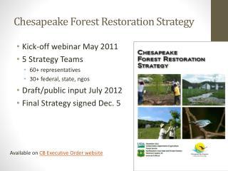Chesapeake Forest Restoration Strategy