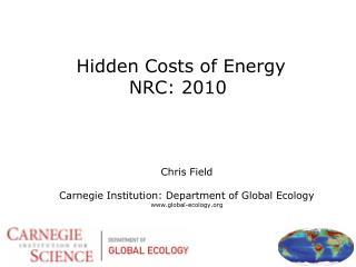 Hidden Costs of Energy NRC: 2010