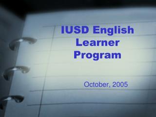 IUSD English Learner Program