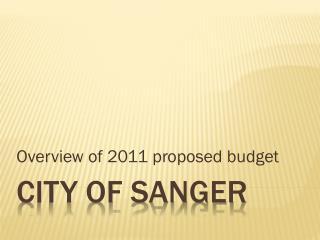 City of sanger