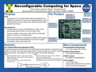 Main Components Transmitting/Receiving Nodes: Four Xilinx Spartan IIE FPGAs