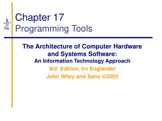 Chapter 17 Programming Tools