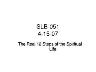 SLB-051 4-15-07