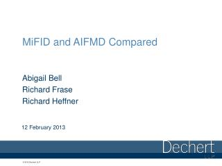 MiFID and AIFMD Compared