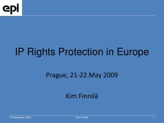 IP Rights Protection in Europe