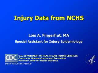 Injury Data from NCHS