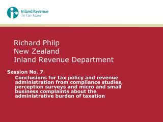 Richard Philp New Zealand Inland Revenue Department