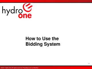 How to Use the  Bidding System