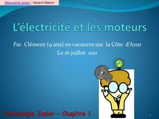 L'électricité et les moteurs