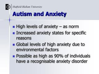 Autism  and Anxiety