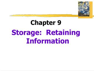 Chapter 9 Storage:  Retaining Information