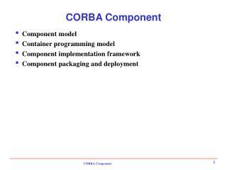 CORBA Component