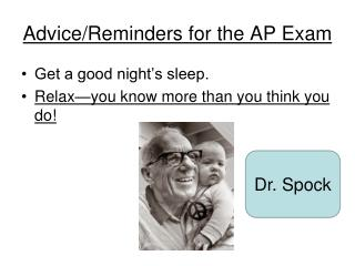 Advice/Reminders for the AP Exam