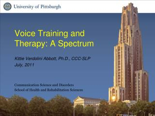 Voice Training and Therapy: A Spectrum