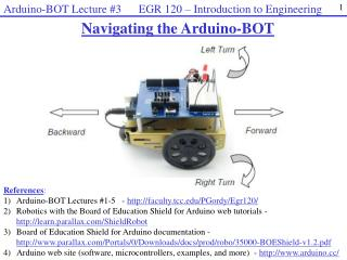 Navigating the  Arduino-BOT