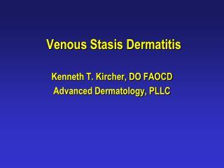 Venous Stasis Dermatitis