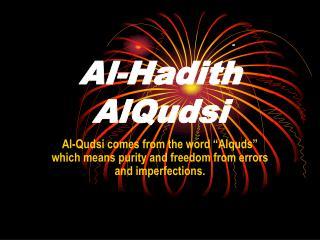 Al-Hadith AlQudsi