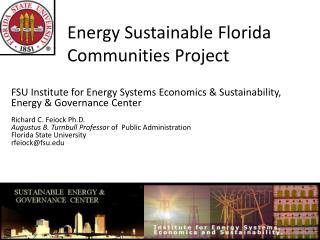 Energy Sustainable Florida Communities  Project