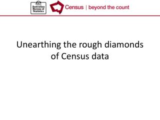 Unearthing the rough diamonds of Census data