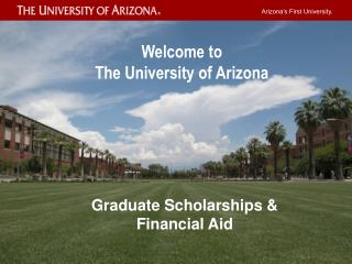 Arizona�s First University.