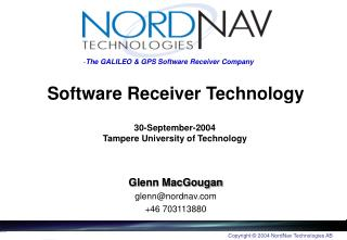 Software Receiver Technology