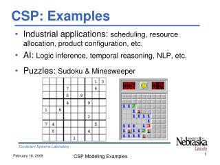 CSP: Examples