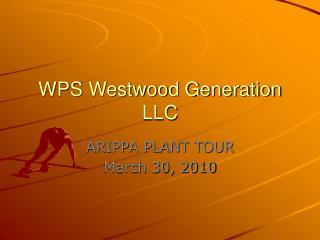 WPS Westwood Generation LLC
