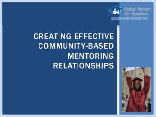 Creating Effective Community-Based Mentoring Relationships