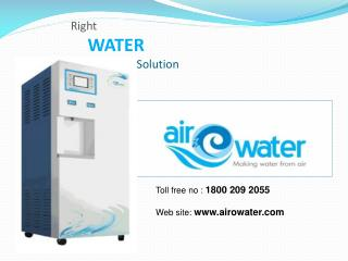 Right WATER 	           Solution