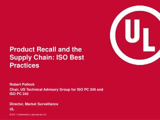 Product Recall and the Supply Chain: ISO Best Practices