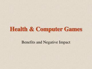 Health & Computer Games