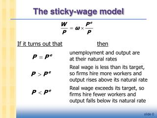 The sticky-wage model