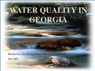 WATER QUALITY IN GEORGIA