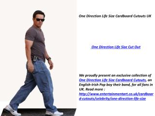 One Direction Life Size Cardboard Cutouts UK