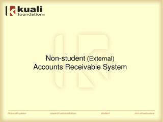 Non-student  (External) Accounts Receivable System