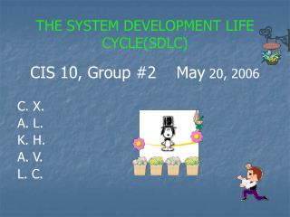 THE SYSTEM DEVELOPMENT LIFE CYCLE(SDLC)