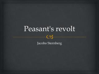 Peasant's revolt
