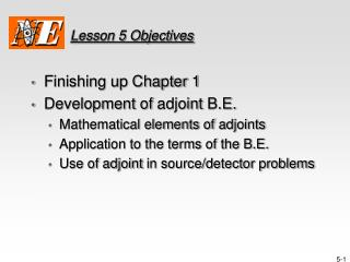 Lesson 5 Objectives