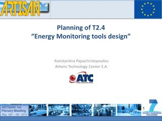 """Planning of T2.4  """"Energy Monitoring tools design"""""""